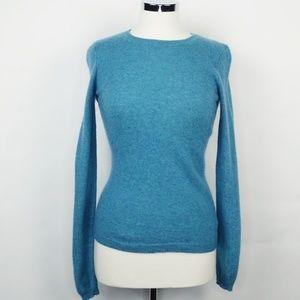 Adrienne Vittadini Cashmere  Crewneck Sweater Teal